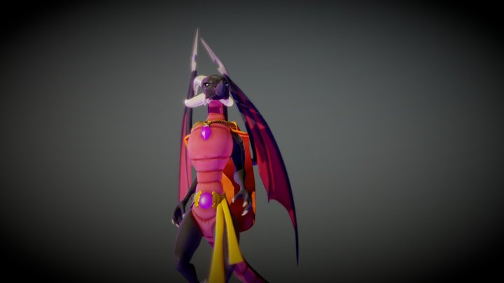 FAN- ART Reignited Trilogy  ELDER Cynder 3D Model