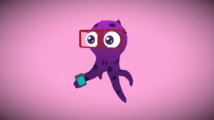 Mascote Octopus 3D Model