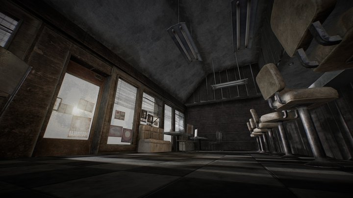 Silent Hill's Cafe 5to2 inspired scene. 3D Model