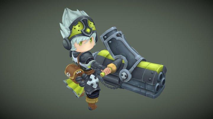 Little Sniper 3D Model