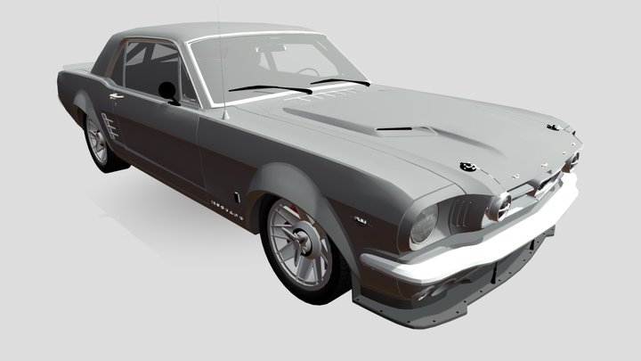 Mustang old tuning 3D Model
