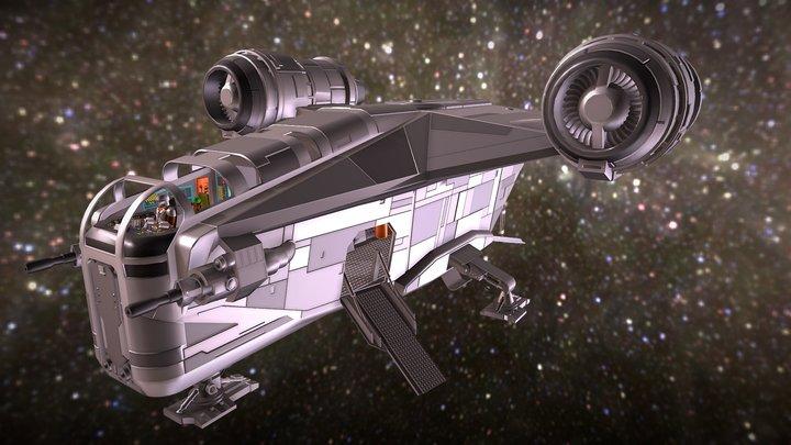 The Mandalorian, Razor Crest, Full Interior 3D Model