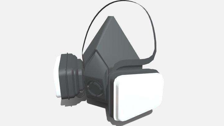 Mascarilla para Gases y Vapores 3M 3D Model