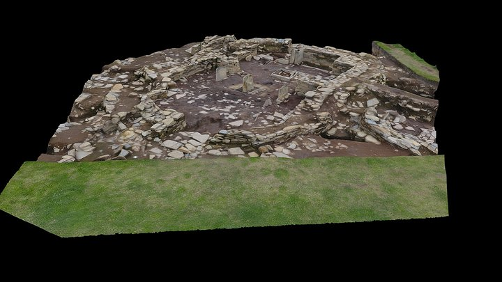 Ness of Brodgar, Structure 1 for Cardboard 3D Model