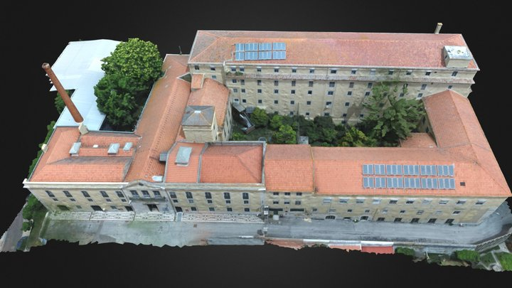 Edifício Principal - Convento de Rilhafoles 3D Model