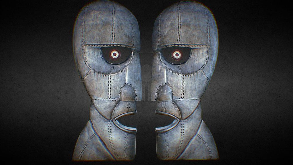 Pink Floyd Division Bell Statue 3d Version 2 3d Model By