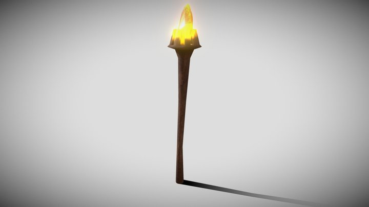 LP torch / magic wand with emission 3D Model