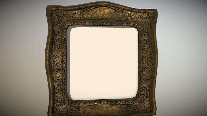 Old Golden Frame 3D Model