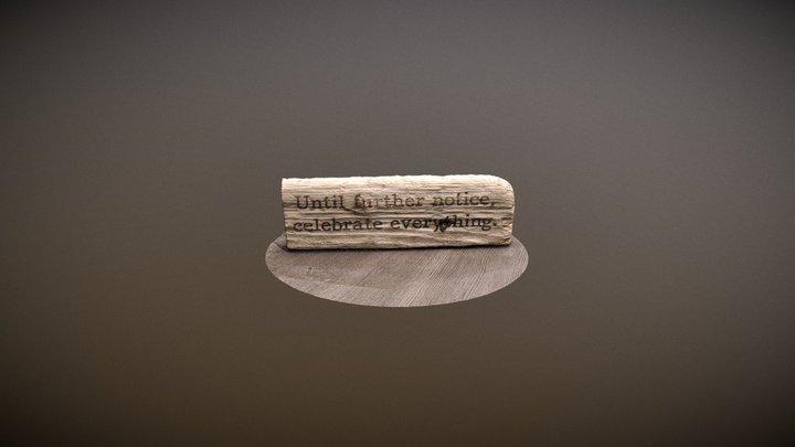 Driftwood Laser-etched(Photoscan) 3D Model