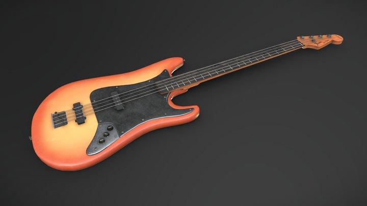 Bass Guitar 3D Model