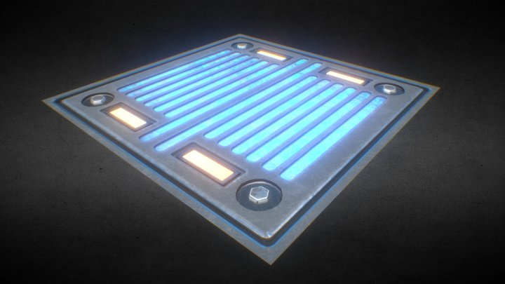 Sci-Fi lights panel 3D Model