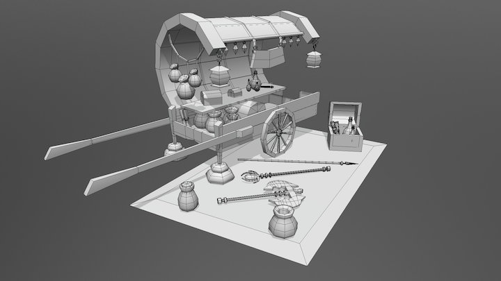 Carrito ambulante 3D Model