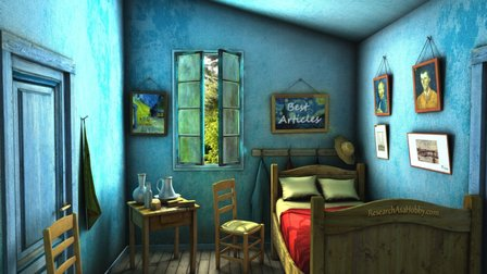 Room with best articles 3D Model