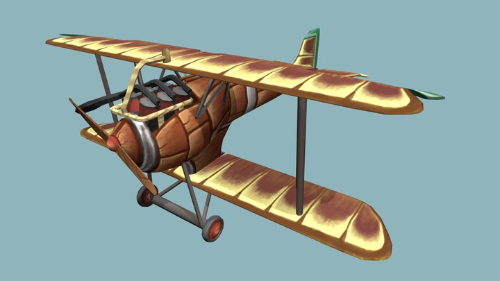 Stylized plane 3D Model