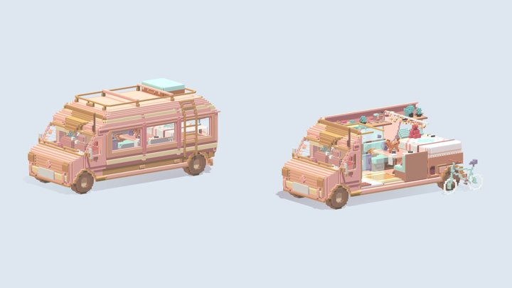 sweet Motorhome 3D Model