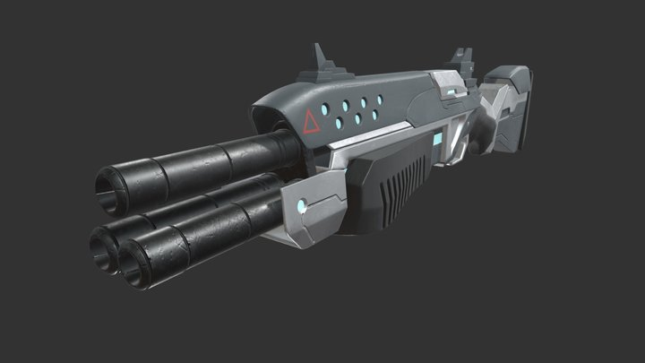 hightech shotgun 3D Model
