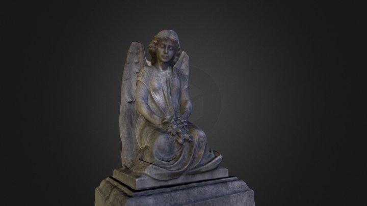 Angel in cemetery 3D Model