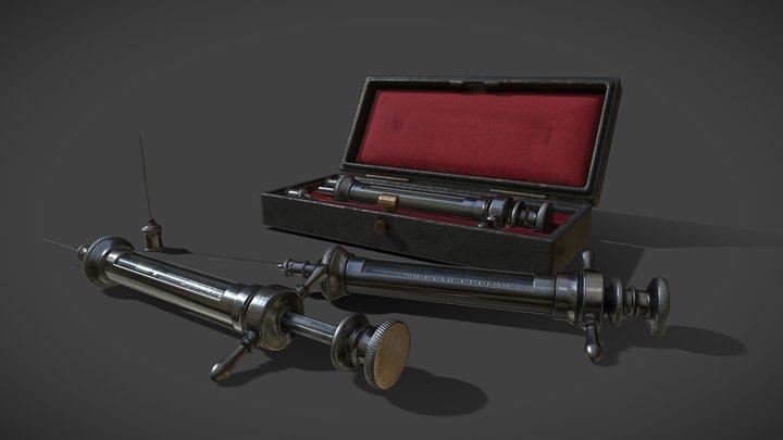 Antique Syringe Set 3D Model