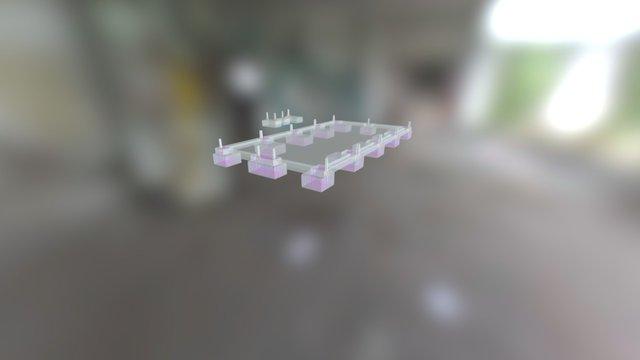 Fundatii Armate3d armate etapa 01 3D Model