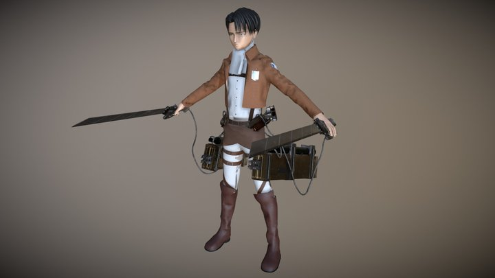 Levi Ackerman Attack On Titan 3D Model