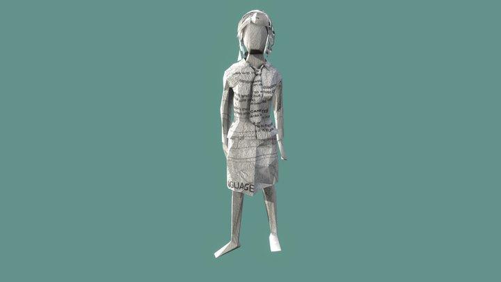 paper girl 3D Model
