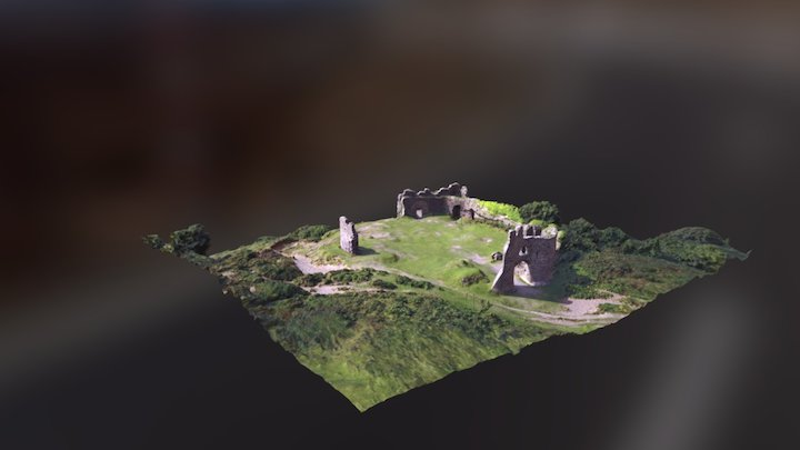 pennard castle nr three cliffs , gower wales 3D Model