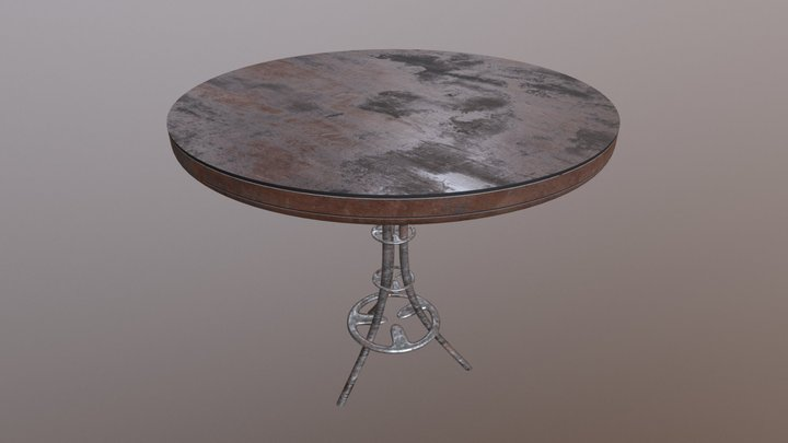 Old Scratchy Table 3D Model