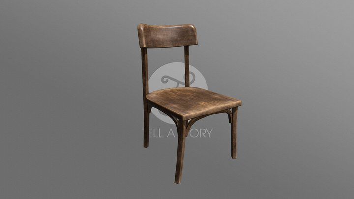 1900 Old chair 3D Model