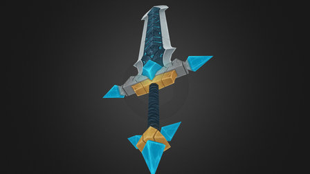 Crystal Forged Sword 3D Model
