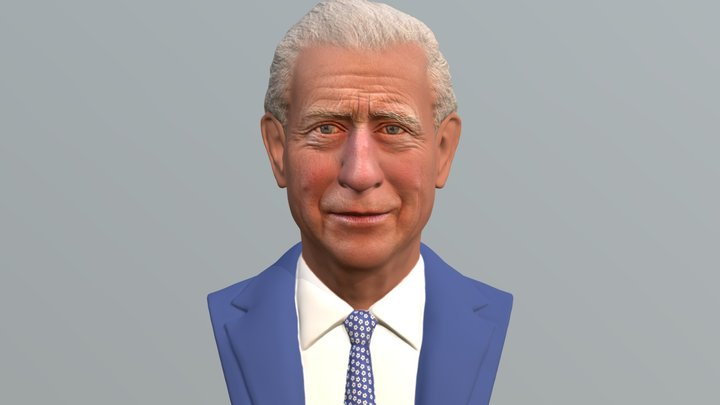 Prince Charles bust for full color 3D printing 3D Model