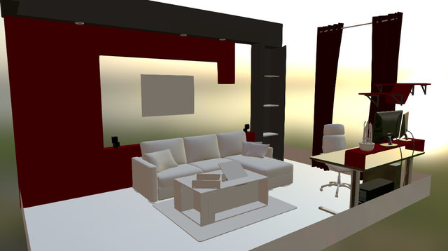 LivingRoom 3D Model