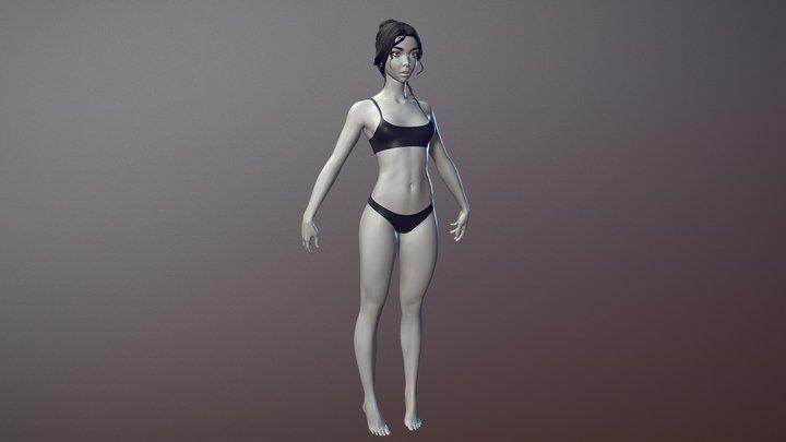 Female Basemesh 01 3D Model