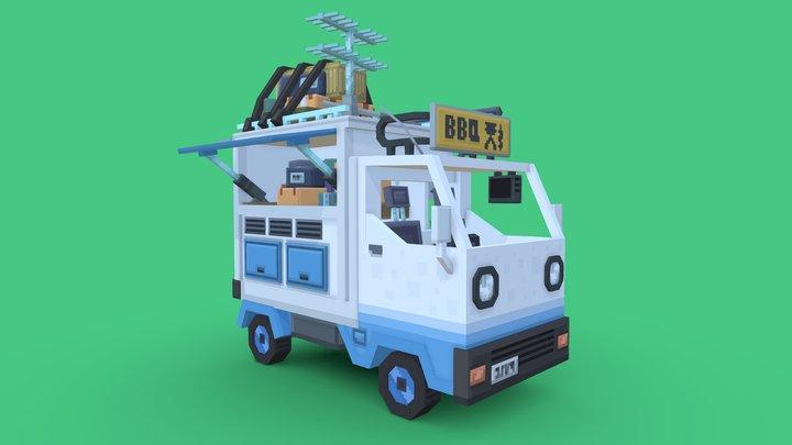 BBQ Kei Truck 3D Model
