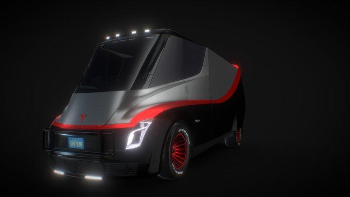 The E-Team van 3D Model