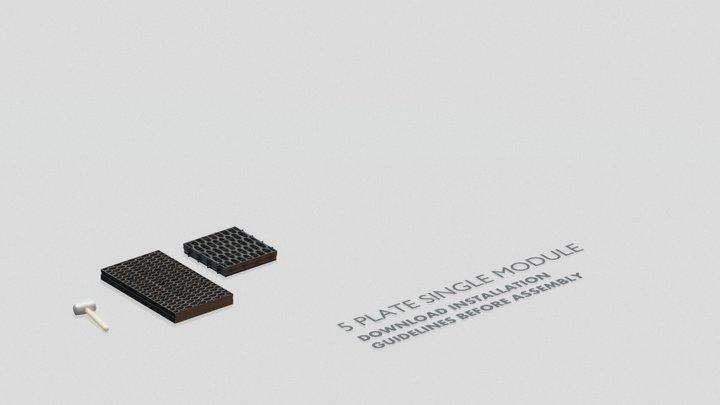 Cirtex® Civil - RainSmart 5 Plate Single Module 3D Model