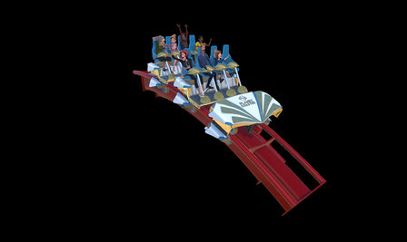 Coaster Car With Guests 3D Model