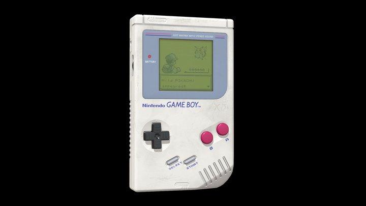Nintendo Gameboy 1989 3D Model