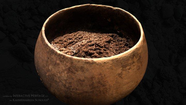 A Hawaiian wooden bowl (lit) 3D Model