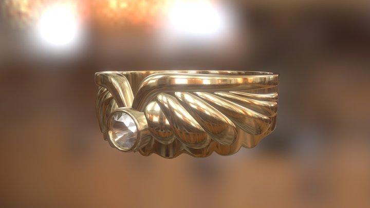 528 - Ring Wings 3D Model