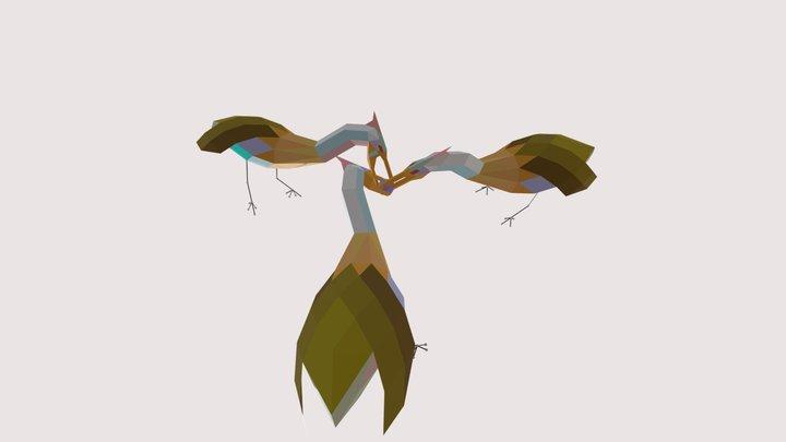 Three-fold birds 3D Model