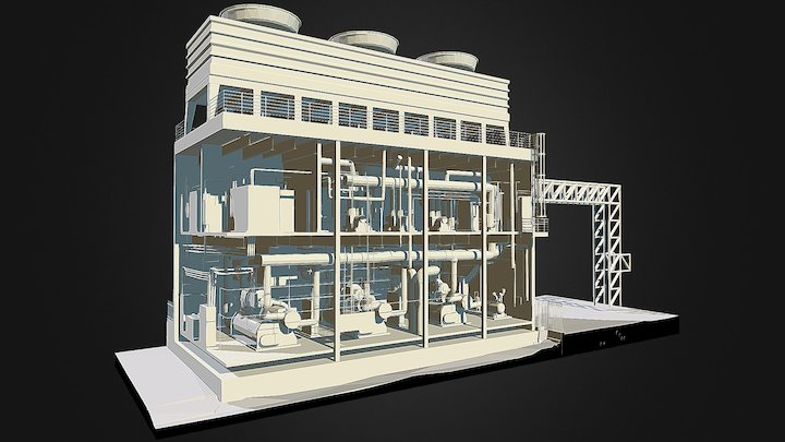 Ben Taub Hospital Mechanical Room, Houston TX 3D Model