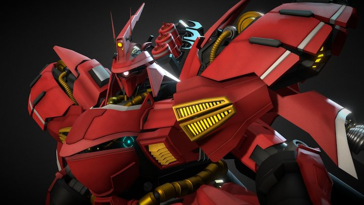 SAZABI MSN-04 Gundam 3D Model