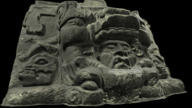 Stucco relief, Building B-1st, Group II, Holmul 3D Model