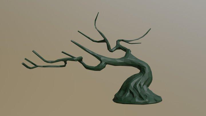 Bonsai Tree Low Poly 3D Model