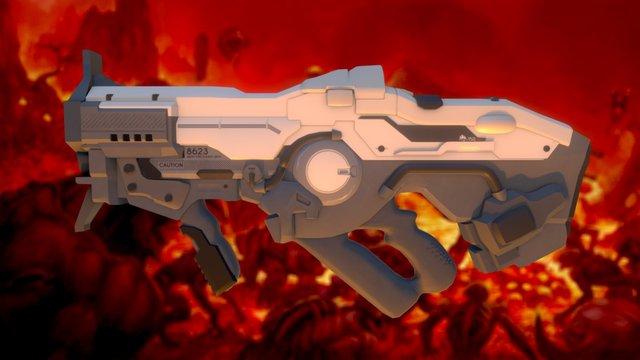 Doom - Plasma Rifle 3D Model