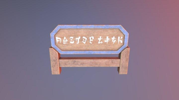 Link's House Sign 3D Model