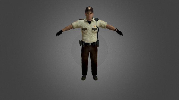 TWD Officer Shane Walsh 3D Model