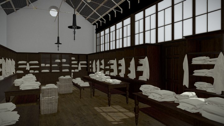 Magdalene Laundry Packing Room 3D Model