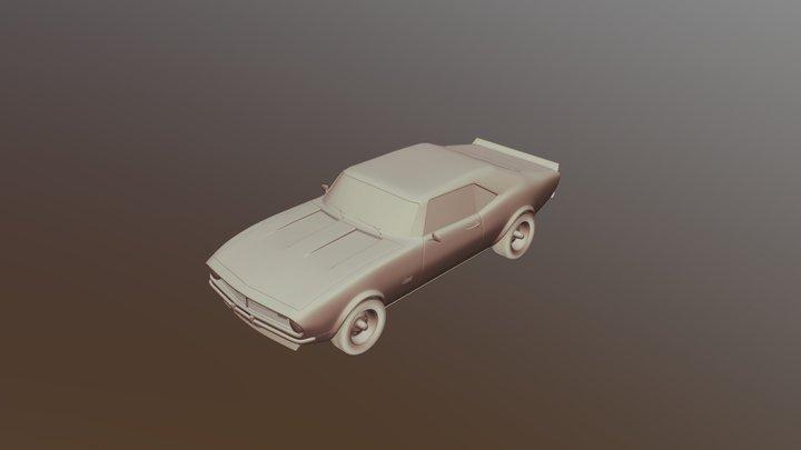 Chevrolet Camero 1968 3D Model