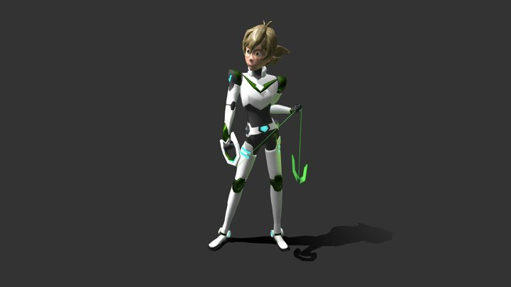 Pidge from Voltron Low Poly 3D Model